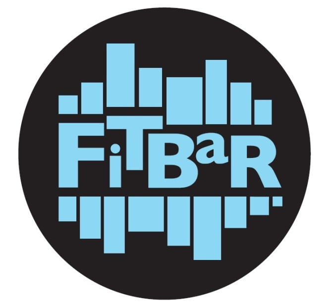 FitBar Logo - blue on black